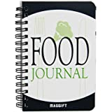 """ATDAWN Food Journal/Food Diary/Diet Journal Notebook, 120 Pages - 3 1/2"""" x 5 1/4"""" Durable Thick Translucent Cover, Wire…"""