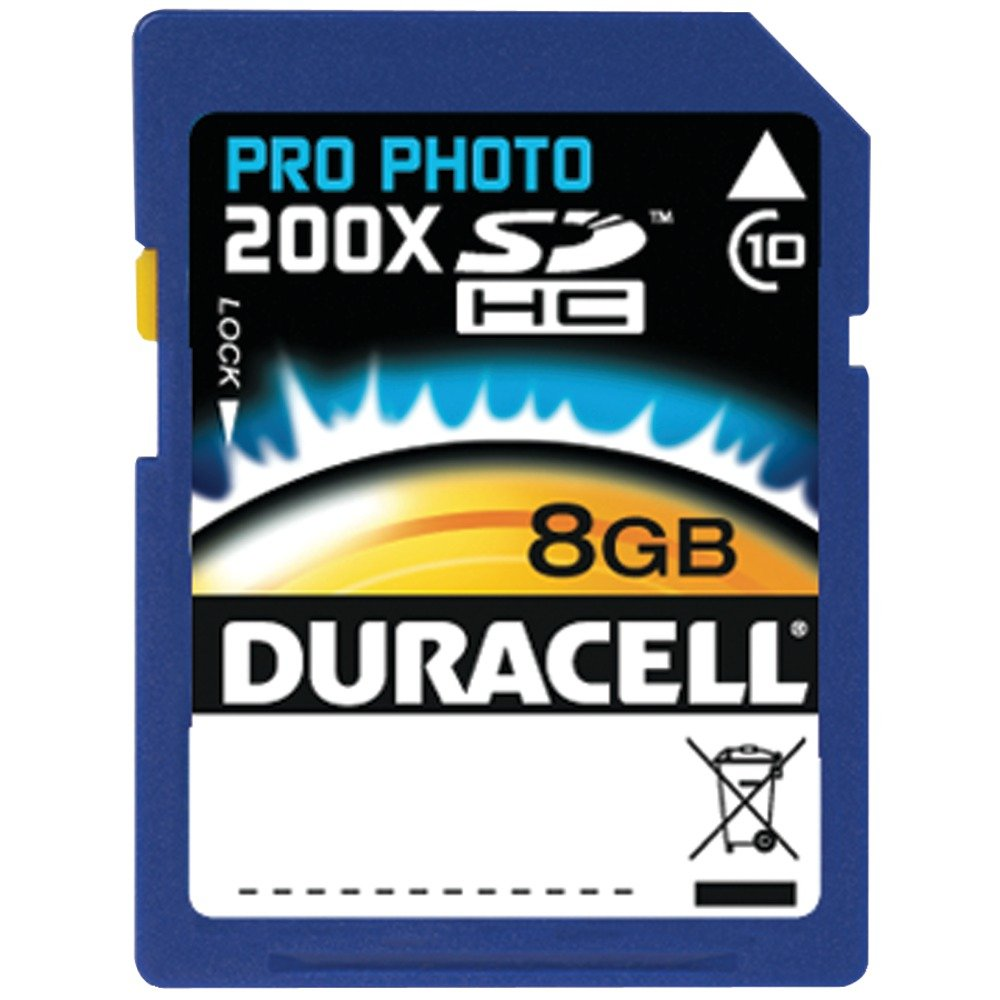 Duracell High Speed 8 GB Class 10 Secure Digital Card DU-SD1008G-C