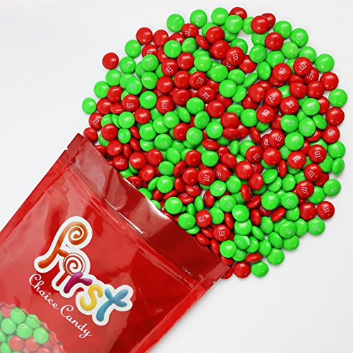 m&m Christmas Mix Milk Chocolate Candy 1 Pound Resealable Pouch Bag