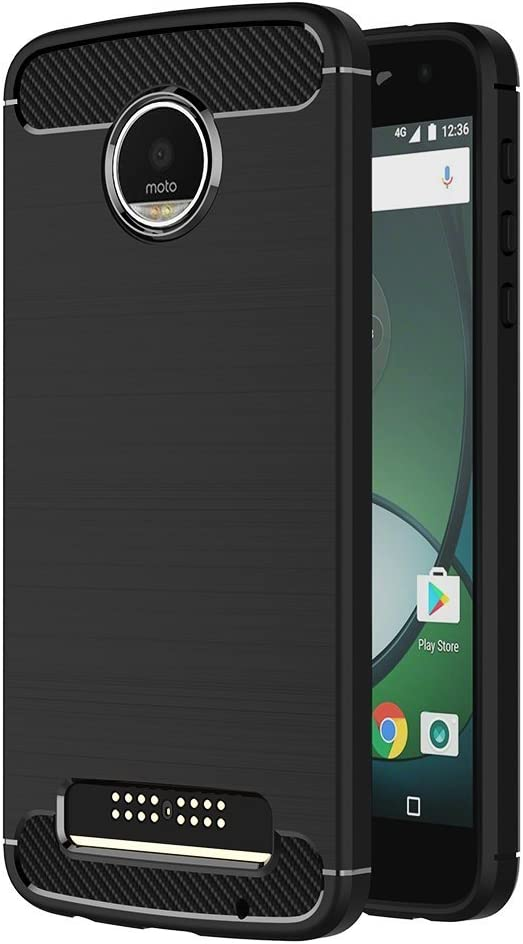 MaiJin Funda para Motorola Moto Z Play (5,5 Pulgadas) TPU Silicona ...