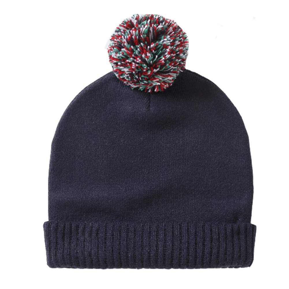 Amazon.com  Exemaba Baby Boys Winter Knit Hat - Infant Soft Warm Knitted  Beanie Cap Cute Fall Toddler Kids Crochet Hairball Pom Pom Hat  Clothing 6dd109bab93