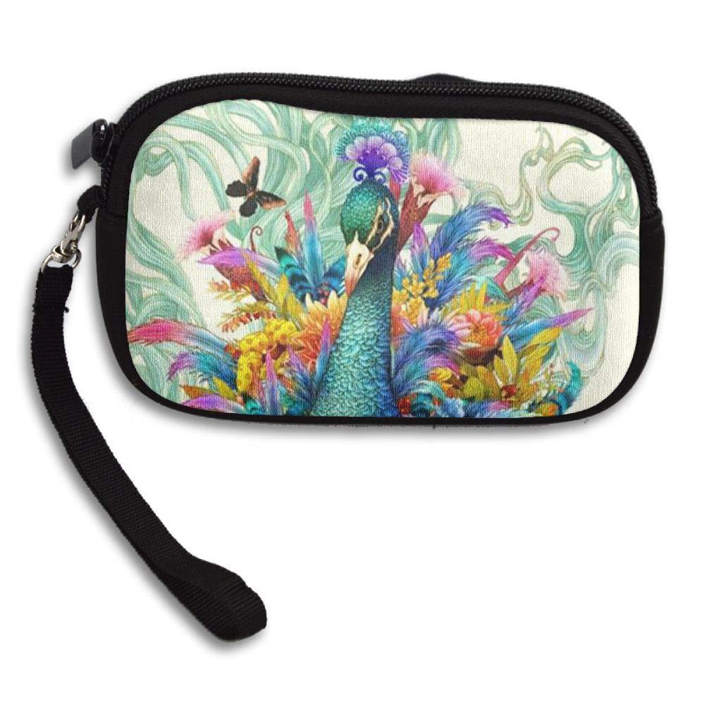 HACVREQ Unisex Personalized Wallet,Beautiful Peacock Purse Bag Woman Ladies Men Gentlemen