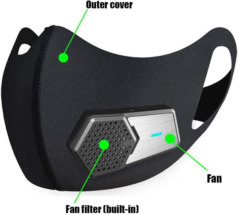 CYCPACK Smart eléctrico del Polvo Anti Cara Escudo Protector Negro ...