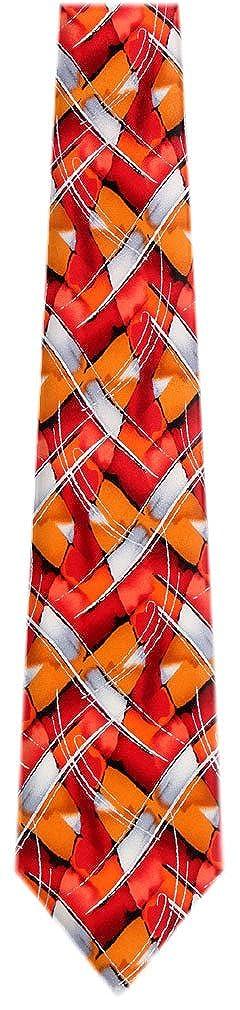Silk Pattern Red Jerry Garcia Silk Tie