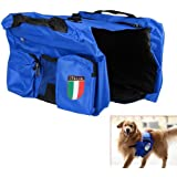Waterproof Pet Saddle Bag Dogs Soft Harness Backpack Rucksack Padded Traveling Camping Vest Bag Pack for Food Treat Storage ,Lightweight Pet Knapsack Accessory by Sijueam - Colorful