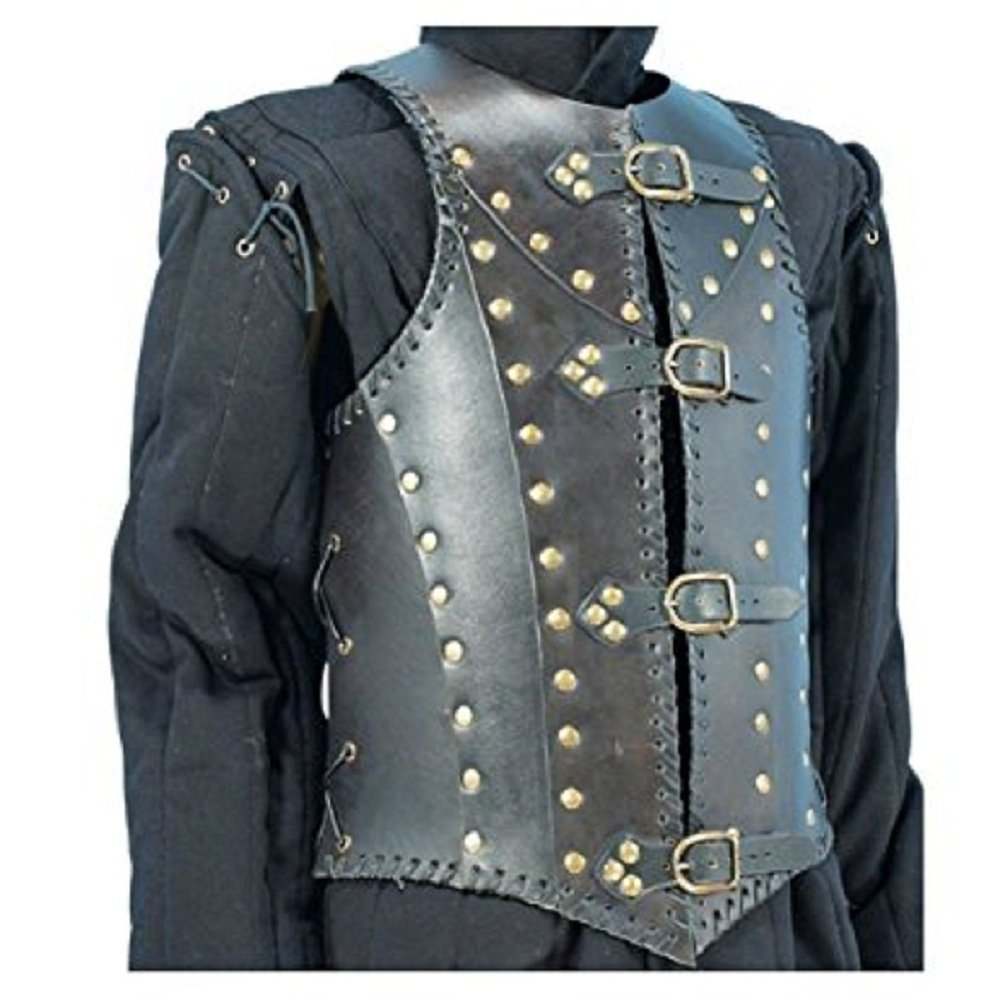 NAUTICALMART Armor Soldiers Leather Body Armour Black One Size