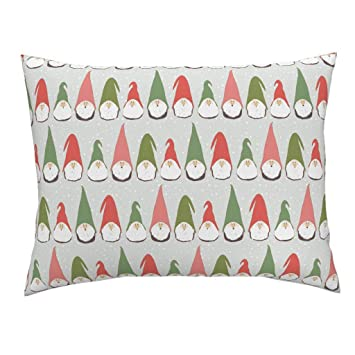 Christmas Gnomes Pattern.Amazon Com Christmas Green And Red Standard Knife Edge