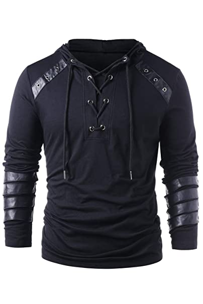 Amazon.com: Sudadera de manga larga con capucha para hombre ...