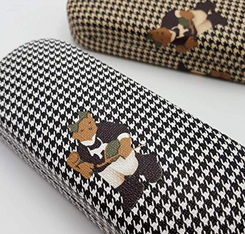 Random Color Hound Tooth Checked Pattern Hard Case for Eyeglasses Sunglasses Eyewear Holder Pouch Sleeve