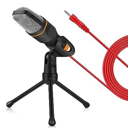 Amazon com: XHHWZB PC Microphone, 3 5mm Jack Condenser