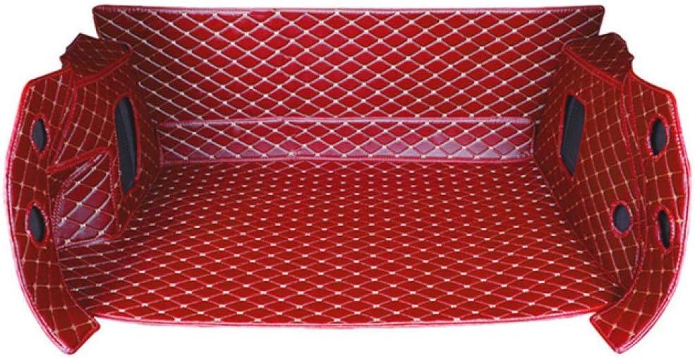Car trunk mat For KIA sportage R 2015~2017 Leather Car Rear Trunk Tail Box Mat Decor Cover Trim Exterior Car Stying clmaths Color : Beige