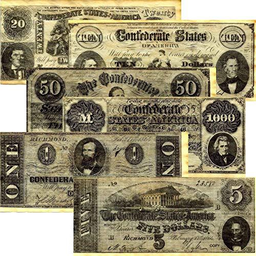 (Confederate Currency Set A, B, C, & D )