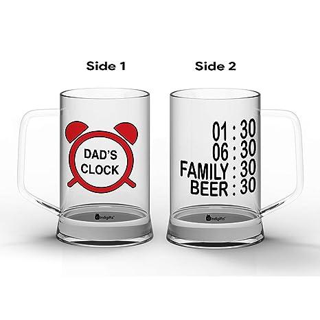 Amazon.com: Indibni - Taza de cerveza transparente de 330 ml ...