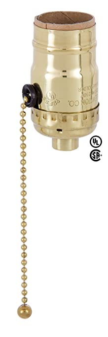 Exceptional Bu0026P Lamp Pull Chain 3 Way Socket (LEVITON)   Polished And Lacq.