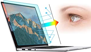 2 Packs 14 Inch Anti Blue Light Anti Radiation Laptop Screen Protectors, Slightly Matte Anti Glare Eye Protection Screen Filter, Suitable for Laptops with 16:9 Aspect Ratio