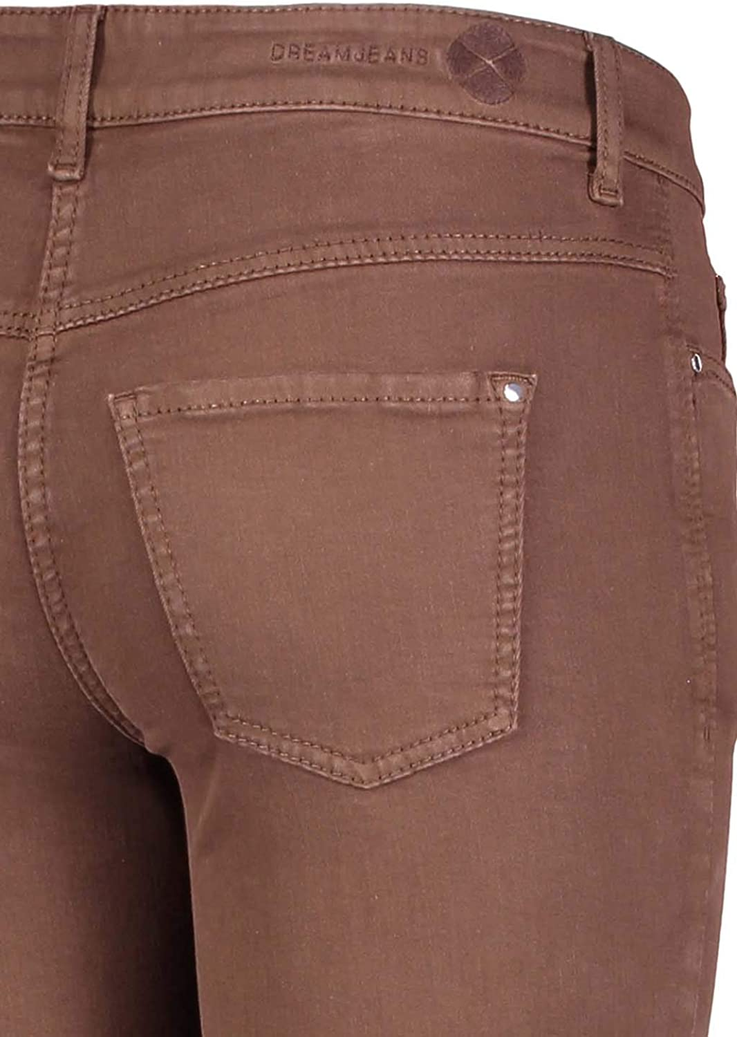 MAC Jeans Women's Dream Straight Jeans 278r Fawn Brown Ppt