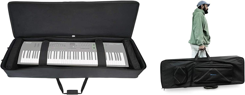 Rockville 88 Key Padded Keyboard Gig Bag Case For Nektar Impact LX88 Plus