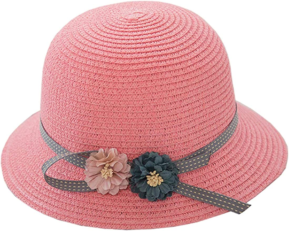 Woven-Straw Hat Summer Cool Girls Sun-Hats for 3~10 Years