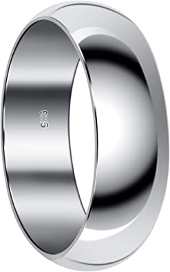 Unisex Men/'s Women/'s 925 Sterling Silver Vintage Wedding Band. Size 9 34