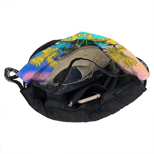 e6d62e9eef86 Amazon.com: OLOSARO Drawstring Bag Ghana Eagle Castle Badge Flag ...