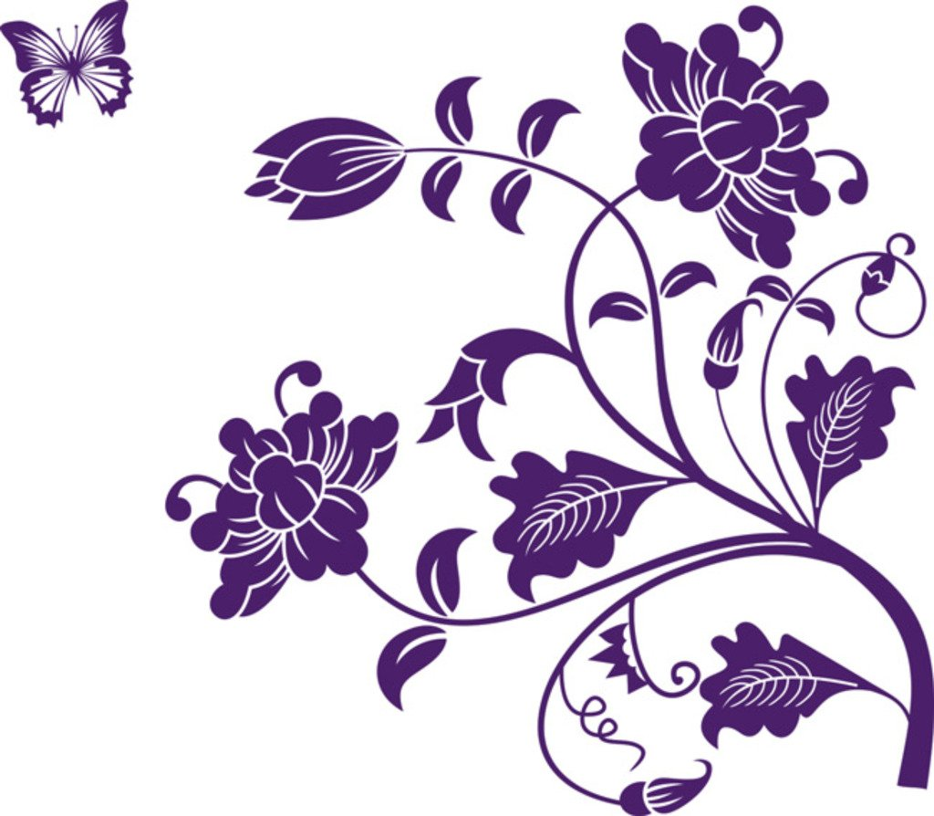 Decals Design 'Vine Flower' Wall Sticker