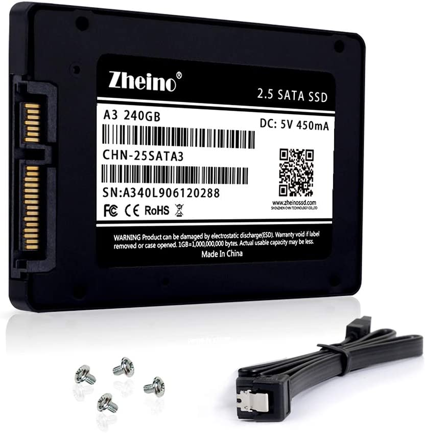 Zheino 240gb SSD A3 2.5 inch Sata III 3D Nand SSD Drive Internal Solid State Drive 7mm for Notebook Desktop PC
