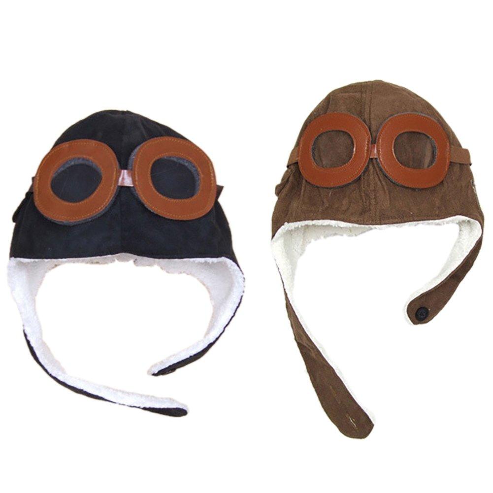 Hosaire Pilotos Gorras Sombreros Capucha Niños Niñas Bebés de Algodón para  Invierno (Negro)  Amazon.es  Hogar 38ae32eb3c8
