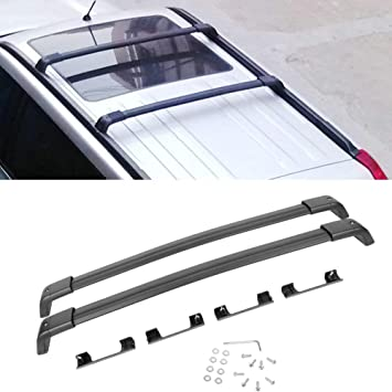 ROSY PIXEL Roof Rack Cross Bars Pair Set for 2009-2013 Subaru Forester Luggage Carrier Aluminum Black