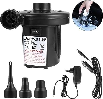 Etmury Elektrische Luftpumpe Multifunktion Elektrische Pumpe Aufblasbare Schwimmtiere Oder Camping G/ästebetten 2 in 1 Elektropumpe mit 3 Luftd/üse Kompressor f/ür Luftmatratzen Schlauchboote