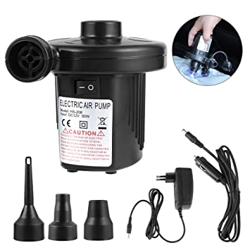 Bomba de aire eléctrica, pomisty eléctrica Bomba Multi Función eléctrico Bomba con manguera de 3 Compresor De Boquilla de aire para colchones ...