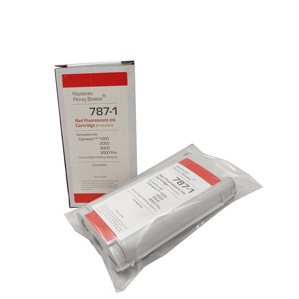 Preferred Postage Supplies Compatible 787-1 Max Volume Production Ink Cartridge for Connect+ Series Compare to Pitney Bowes 787-1 by Preferred Postage Supplies