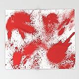 "Society6 Bloody Blood Spatter Halloween Throw Blankets 88"" x 104"" Blanket"
