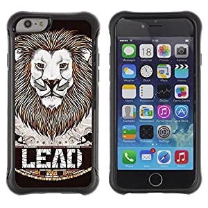 Hybrid Anti-Shock Defend Case for Apple iPhone 5C Inch / fashion Lion LEAD Badge Art