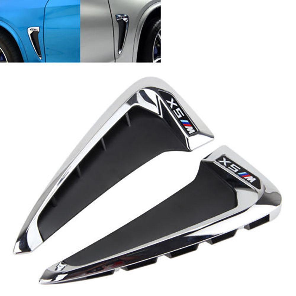 F15-X5 X 5 35I Pair WYQ Side Marker Fender Air wing Vent Trim Carbon Fiber M Cover For BMW 2014