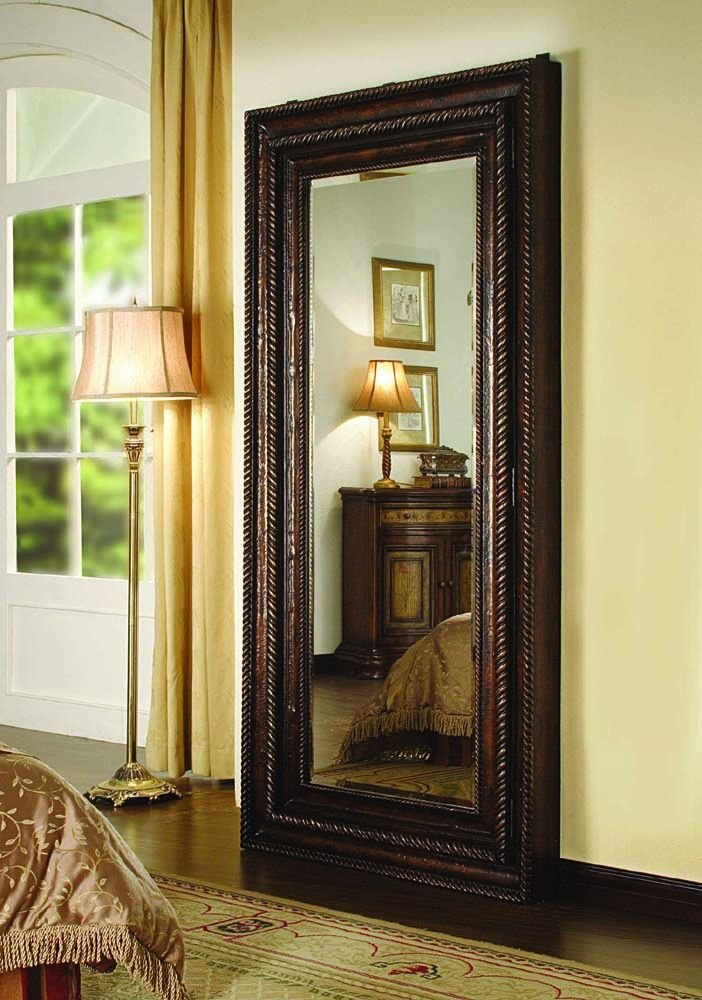 Amazon.com: Hooker Furniture 500-50-656 Floor Mirror w/Hidden ...