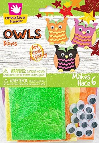 Creative Hands Owls Decorations (Halloween Day Classroom Activities)