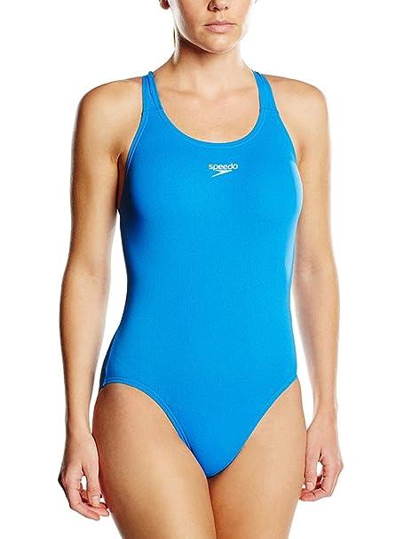 cdecef1edc5 Speedo Essential Endurance+ Medalist Swimsuit Women Neon Blue Größe DE 32