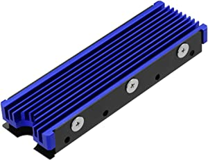 NVMe Heatsinks for M.2 2280mm SSD Double-Sided Cooling Design(Blue)