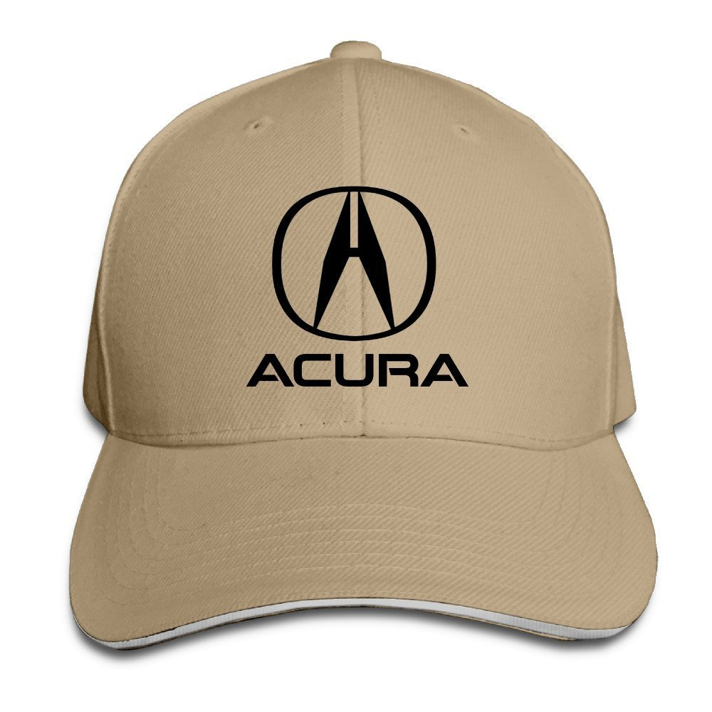 Runy Acura Emblem Adjustable Hunting Peak Sandwich Hat Cap Natural - Acura hat