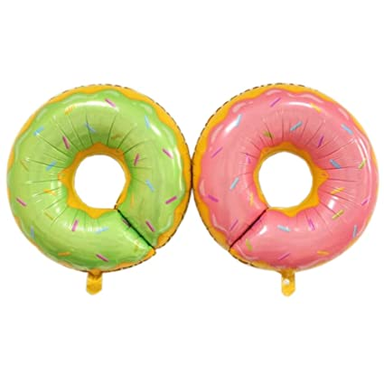 Amazon.com: annodeel 4pcs Donut globos de aluminio, 20 inch ...