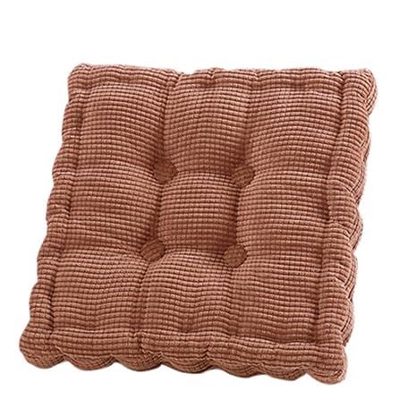 laamei Cojines de Asiento Algodón Cómodos Cojín Terraza Amortiguador de Sillas Oficina Hogar Muebles Decoración 50cm