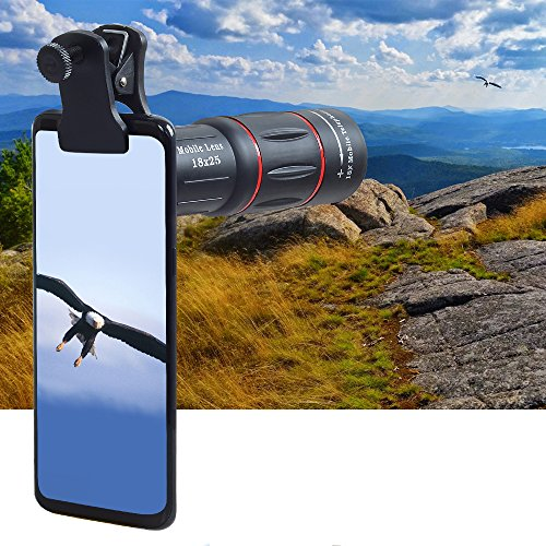 - DCT TDC Cell Phone Camera Lens Universal Mobile Phone 18 X 25 Times HD Camera Telescope Universal Mobile Phone iPhone 8/7/6s/6/6 Plus/6s Plus Samsung Galaxy S8/S8