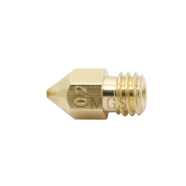 MadridGadgetStore® Cabezal Cabeza Boquilla 0.2 mm 0.2mm para ...