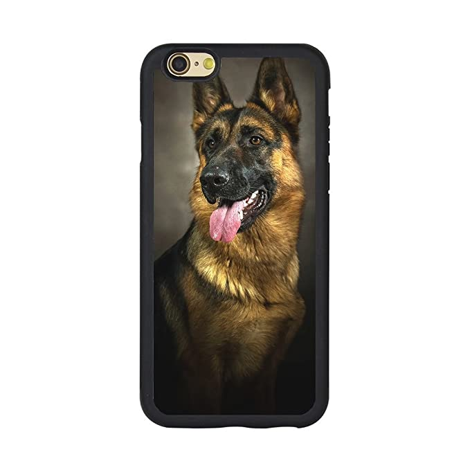 buy popular bc80b 74af7 Andenley Design German Shepherd Dog Phone Case,Soft TPU Rubber Black  Protective Case for iPhone 5/5s/SE, 6/6s, 6P,7/8,7P/8P (iPhone 6/6s)