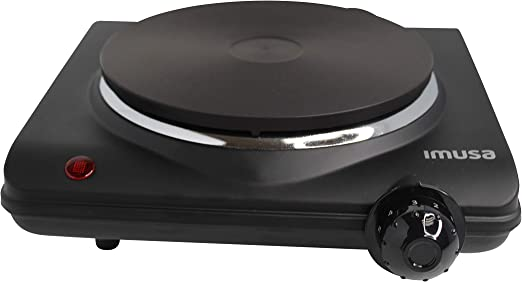 Imusa USA GAU-80315 Single Electric Hot Plate, black