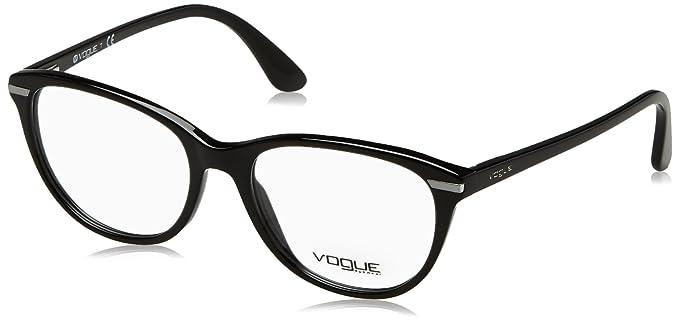 0cb293fc658 Vogue Brille VO 2937 W44 Gr. 53 in der Farbe schwarz: Amazon.de ...