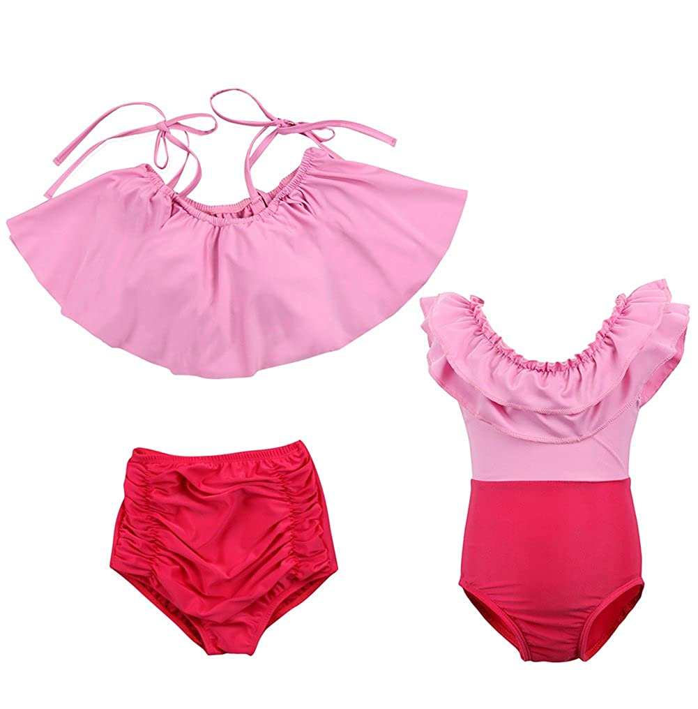 XARAZA Toddler Girls Family Matching Bikini Swimsuit Swimwear Beachwear Sunsuit