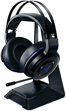 Amazon Com Razer Thresher Ultimate For Ps4 Dolby 7 1 Surround Sound Lag Free Wireless Connection Retractable Digital Microphone Gaming Headset Works With Pc Ps4 Ps5 Video Games