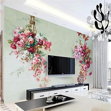 Amazon.com: Amazhen Customize Any Size Vintage Rose Living Room ...
