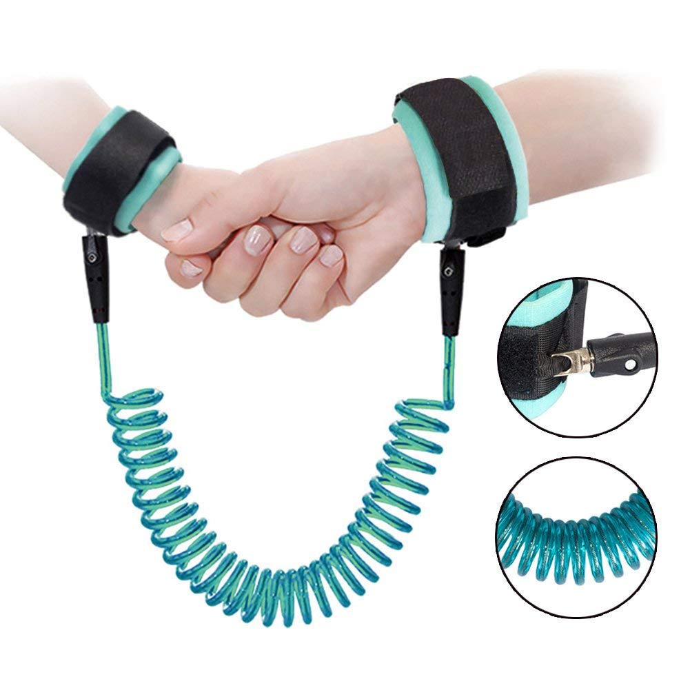 ARONTIME Anti Lost Wrist Link, 2.5M Baby Toddler Reins Safety Harness, Child Kids Travel Cares Safety Restraint Wristband Security Elastic Wire Rope